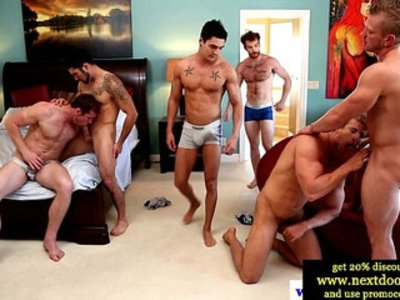 Awesome group sex action with the horniest gays friends